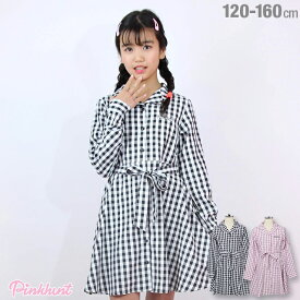 【50%OFF アウトレットSALE】PINKHUNT ピンクハント シャツ ワンピース 3518K キッズ ジュニア 女の子 小学生 中学生 おしゃれ かわいい PH