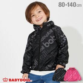 【50%OFF アウトレットSALE】ロゴ 総柄 ウィンドブレーカー 3664K フード収納可能 ベビードール BABYDOLL 子供服 ベビー キッズ 男の子 女の子