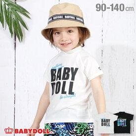 NEW ロゴ メッセージ 半袖 ラッシュガード 3718K ベビードール BABYDOLL 子供服 ベビー キッズ 男の子 女の子