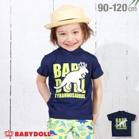 NEW 恐竜 半袖 ラッシュガード 3719K (ボトム別売) ベビードール BABYDOLL 子供服 ベビー キッズ 男の子