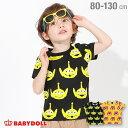 ディズニー フェイス モチーフ 総柄 Tシャツ 3758K ベビードール BABYDOLL 子供服 ベビー キッズ 男の子 女の子 コスチューム コスプレ…