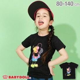 【S50】ディズニー タイダイ キャラクター Tシャツ 3854K ベビードール BABYDOLL 子供服 ベビー キッズ 男の子 女の子 コスチューム コス DISNEY★Collection