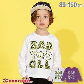 【50%OFF アウトレットSALE】ヒョウ柄 ロゴ ロンT 3889K ベビードール BABYDOLL 子供服 ベビー キッズ 男の子 女の子