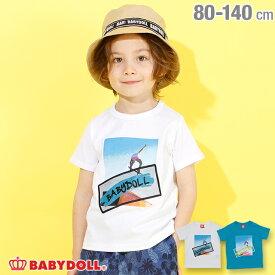 【期間限定60%OFF】 アウトレットSALE メッシュ 貼付 Tシャツ 3934K ベビードール BABYDOLL 子供服 ベビー キッズ 男の子 女の子