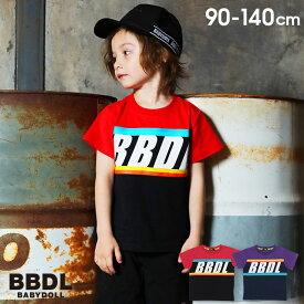 【50%OFF アウトレットSALE】BBDL(ビー・ビー・ディー・エル) カラー ライン Tシャツ 3942K ベビードール BABYDOLL 子供服 ベビー キッズ 男の子 女の子