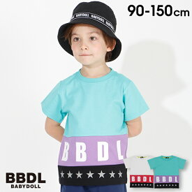 【30%OFF アウトレットSALE】BBDL(ビー・ビー・ディー・エル) カラー 切替 Tシャツ 3944K (ボトム別売) ベビードール BABYDOLL 子供服 ベビー キッズ 男の子 女の子