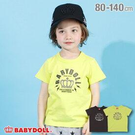 【50%OFF アウトレットSALE】ゴールドロゴ Tシャツ 4010K ベビードール BABYDOLL 子供服 ベビー キッズ 男の子 女の子