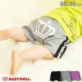 【50%OFF サマーSALE】ロゴテープ ショートモンキーパンツ 4040B ベビードール BABYDOLL 子供服 ベビー キッズ 男の子 女の子