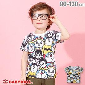 NEW ドラえもん キャラクター 総柄 Tシャツ 4100K ベビードール BABYDOLL 子供服 ベビー キッズ 男の子 女の子
