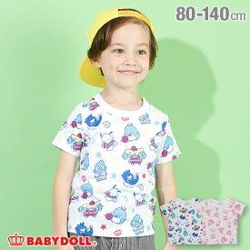 【50%OFF アウトレットSALE】サンリオ キャラクター スポーツ 総柄 Tシャツ 4152K ベビードール BABYDOLL 子供服 ベビー キッズ 男の子 女の子