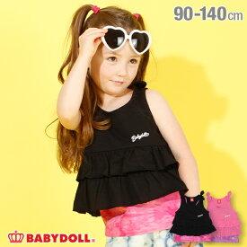 【4/12 10時〜TIME SALE 60%OFF】 キャミ付 リボン タンクトップ 4179K ベビードール BABYDOLL 子供服 ベビー キッズ 女の子