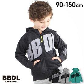 【30%OFF アウトレットSALE】 BBDL(ビー・ビー・ディー・エル) BIGロゴ ジップパーカー4274K (ボトム別売) ベビードール BABYDOLL 子供服 キッズ 男の子 女の子
