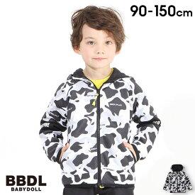 【30%OFF アウトレットSALE】 BBDL(ビー・ビー・ディー・エル) 迷彩 切替ロゴ ジップパーカー 4403K (ボトム別売) ベビードール BABYDOLL 子供服 キッズ 男の子 女の子