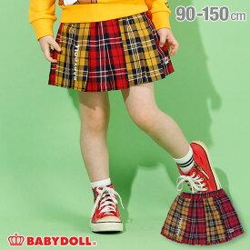 【30%OFF アウトレットSALE】 チェック スカート 4453K (トップス別売) ベビードール BABYDOLL 子供服 ベビー キッズ 女の子
