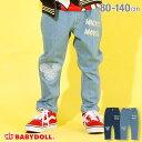 【S30】 ディズニー キャラクター デニム ロングパンツ4594K ベビードール 子供服 ベビー キッズ 男の子 女の子 DISNEY★Collection