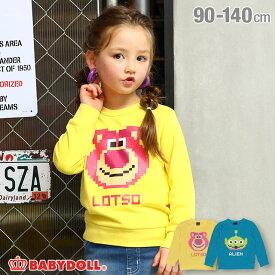 【S50】ディズニー ピクセル キャラクター トレーナー 4614K ベビードール BABYDOLL 子供服 ベビー キッズ 男の子 女の子 DISNEY★Collection