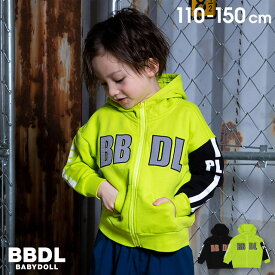 【4/12 10時〜TIME SALE 60%OFF】 BBDL(ビー・ビー・ディー・エル) ロゴライン ジップパーカー 4911K ベビードール BABYDOLL 子供服 ベビー キッズ 男の子 女の子