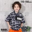 【50%OFF サマーSALE】 BBDL(ビー・ビー・ディー・エル) ロゴ切替 総柄 シャツ 5005K ベビードール BABYDOLL キッズ 男の子 女の子