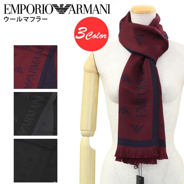 エンポリオアルマーニ EMPORIO ARMANI ウールマフラー 薄手 625018 6A323//625018-6A323【新品】