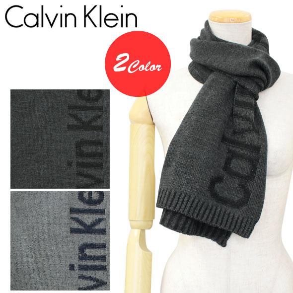 カルバンクライン Calvin Klein CK マフラー PLAITED LOGO SCARF 2017年秋冬新作 HKC73605【新品】