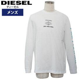 ディーゼル メンズ長袖Tシャツ カジュアルTシャツ 丸首 T-JUST-LS-YB T-SHIRT DIESEL 00SNRD-0091A-100【新品】