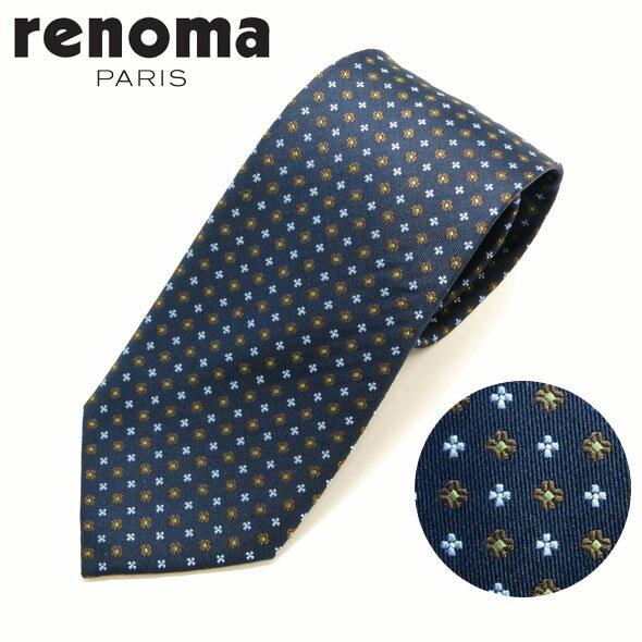 レノマ renoma ネクタイ レギュラータイ シルク 小紋 R16W1A//R16W1A-HC【お取り寄せ】【新品】○