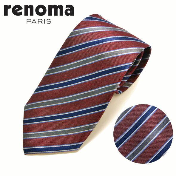 レノマ renoma ネクタイ レギュラータイ シルク ストライプ R16W8C//R16W8C-HC【お取り寄せ】【新品】○