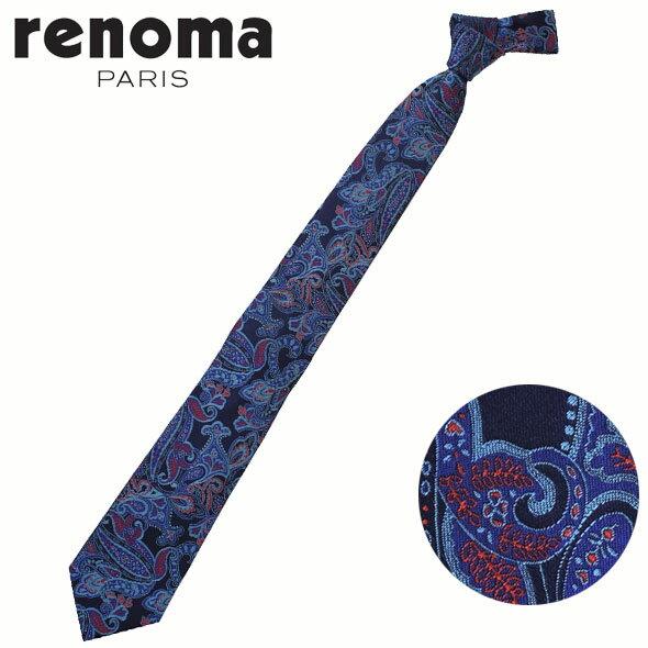 レノマ renoma ネクタイ レギュラータイ シルク ペイズリー RE17S10A//RE17S10A-HC【新品】