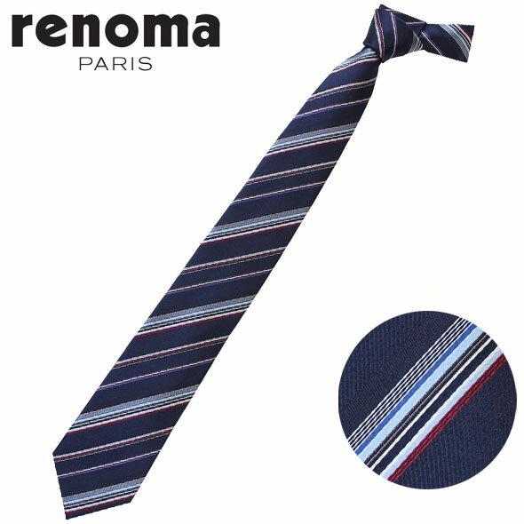 レノマ renoma ネクタイ レギュラータイ シルク ストライプ 2017年春夏新作 RE17S1B//RE17S1B-HC【新品】