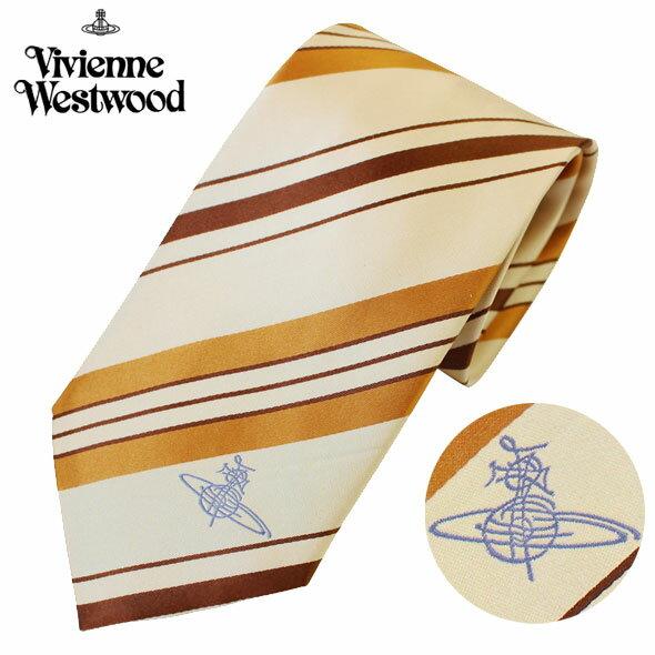 ヴィヴィアンウエストウッド Vivienne Westwood ネクタイ レギュラータイ シルク ストライプ ワンポイント T10 0202 0006//T10-0202-0006-HC【新品】