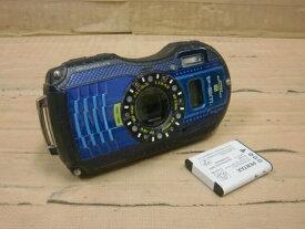 【中古】RICOH 防水・耐衝撃タフネスデジタルカメラ WG-4GPSバッテリー満充電確認済み!