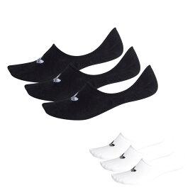 アディダス オリジナルス adidas originals ソックス 靴下 ローカット スニーカーソックス アンクルソックス シューズインソックス 3足セット 3枚組 メンズ レディース ブランド 三つ葉 トレホイル 白 黒 LOW CUT SOCKS 3P FM0676FM0677