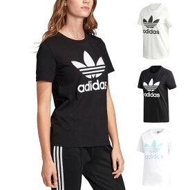 アディダス オリジナルス adidas originals レディース Tシャツ 半袖 ロゴ トレフォイルTシャツ トレホイル 三つ葉 ブランド 女性用 ホワイト 白 ブラック 黒 スカイクリスタル スポーツ ジム ヨガ ML TOREFOIL TEE FM3293 FM3311 FM3306