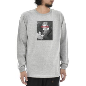 【11%OFFセール】【アートTシャツ】ベートーヴェン ベートーベン Tシャツ 肖像画 モノクロ Life is ART ライフ イズ アート 長袖 ロングスリーブ ロンT グレー メンズ レディース 大きいサイズ ビック 絵画 名画 音楽家 作曲 ティーシャツ S M L xXL XXL ブランド_激安