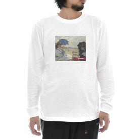 【アートTシャツ】モネ Tシャツ クロード・モネ トルヴィルの浜辺 Life is ART ライフ イズ アート 長袖 ロングスリーブ ロンT メンズ レディース 大きいサイズ ビック ホワイト 白 おしゃれ アート 絵画 名画 ティーシャツ S M L xxl ブランド