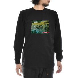 【アートTシャツ】モネ Tシャツ クロード・モネ ラ・グルヌイエール Life is ART ライフ イズ アート 長袖 ロングスリーブ ロンT メンズ レディース 大きいサイズ ビック ブラック 黒 おしゃれ アート 絵画 名画 ティーシャツ S M L xxl ブランド
