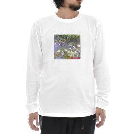 【アートTシャツ】モネ Tシャツ クロード・モネ 睡蓮 スイレン ボックス Life is ART ライフ イズ アート 長袖 ロングスリーブ ロンT メンズ レディース 大きいサイズ ビック ホワイト 白 おしゃれ アート 絵画 名画 ティーシャツ S M L xxl ブランド