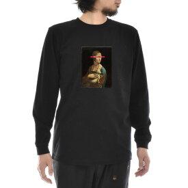 【アートTシャツ】レオナルドダヴィンチ Tシャツ レオナルド・ダ・ヴィンチ 白貂を抱く貴婦人 Life is ART ライフ イズ アート 長袖 ロングスリーブ ロンT メンズ レディース 大きいサイズ ビック おしゃれ アート 絵画 名画 ティーシャツ S M L XL XXL ブラック 黒 ブランド