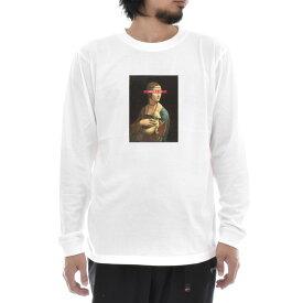 【アートTシャツ】レオナルドダヴィンチ Tシャツ レオナルド・ダ・ヴィンチ 白貂を抱く貴婦人 Life is ART ライフ イズ アート 長袖 ロングスリーブ ロンT メンズ レディース 大きいサイズ ビック おしゃれ アート 絵画 名画 ティーシャツ S M L XL XXL ホワイト 白 ブランド