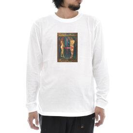 【アートTシャツ】ムンク Tシャツ 新陳代謝 エドヴァルド・ムンク Life is ART ライフ イズ アート 長袖 ロングスリーブ ロンT メンズ レディース 大きいサイズ ビック おしゃれ 絵画 名画 ティーシャツ S M L XL XXL ホワイト 白 ブランド