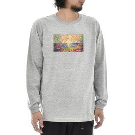 【11%OFFセール】【アートTシャツ】ムンク Tシャツ 太陽 エドヴァルド・ムンク Life is ART ライフ イズ アート 長袖 ロングスリーブ ロンT メンズ レディース 大きいサイズ ビック おしゃれ 絵画 名画 ティーシャツ S M L XL XXL グレー 灰 ブランド_激安