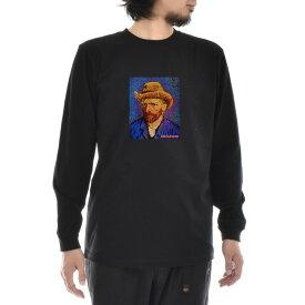 【11%OFFセール】【アートTシャツ】ゴッホ Tシャツ 自画像 1887-88年冬 フィンセント・ファン・ゴッホ Life is ART ライフ イズ アート 長袖 ロングスリーブ ロンT メンズ レディース 大きいサイズ ビック おしゃれ 絵画 名画 ティーシャツ ブラック 黒 ブランド_激安