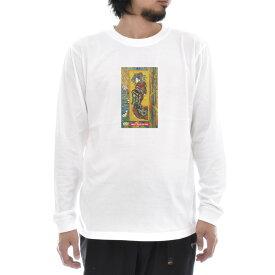 【アートTシャツ】ゴッホ Tシャツ ジャポネズリー おいらん フィンセント・ファン・ゴッホ Life is ART ライフ イズ アート 長袖 ロングスリーブ ロンT メンズ レディース 大きいサイズ ビック おしゃれ 絵画 名画 ティーシャツ S M L XL XXL ホワイト 白 ブランド