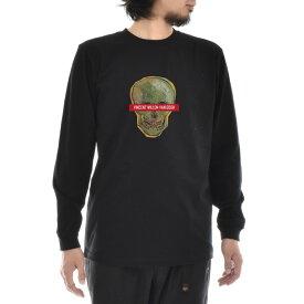 【アートTシャツ】ゴッホ Tシャツ 骸骨 フィンセント・ファン・ゴッホ Life is ART ライフ イズ アート 長袖 ロングスリーブ ロンT メンズ レディース 大きいサイズ ビック おしゃれ 絵画 名画 ティーシャツ S M L XL XXL ブラック 黒 ブランド