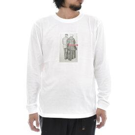【アートTシャツ】ゴッホ Tシャツ MAN AND WOMAN SEEN FROM THE BACK フィンセント・ファン・ゴッホ Life is ART ライフ イズ アート 長袖 ロングスリーブ ロンT メンズ レディース 大きいサイズ ビック おしゃれ 絵画 名画 ティーシャツ S M L XL XXL ホワイト 白 ブランド