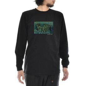 【アートTシャツ】ゴッホ Tシャツ 刑務所の中庭 フィンセント・ファン・ゴッホ Life is ART ライフ イズ アート 長袖 ロングスリーブ ロンT メンズ レディース 大きいサイズ ビック おしゃれ 絵画 名画 ティーシャツ S M L XL XXL ブラック 黒 ブランド