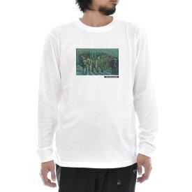 【アートTシャツ】ゴッホ Tシャツ 刑務所の中庭 フィンセント・ファン・ゴッホ Life is ART ライフ イズ アート 長袖 ロングスリーブ ロンT メンズ レディース 大きいサイズ ビック おしゃれ 絵画 名画 ティーシャツ S M L XL XXL ホワイト 白 ブランド