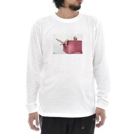 【アートTシャツ】マリリン・モンロー Tシャツ フォト 写真 Red Sofa Life is ART ライフ イズ アート 長袖 ロングスリーブ ロンT メンズ レディース 大きいサイズ ビック おしゃれ ガールズプリント ティーシャツ S M L XL XXL ホワイト 白 ブランド