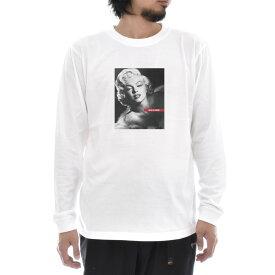【アートTシャツ】マリリン・モンロー Tシャツ フォト 写真 Glamour Life is ART ライフ イズ アート 長袖 ロングスリーブ ロンT メンズ レディース 大きいサイズ ビック おしゃれ ガールズプリント ティーシャツ S M L XL XXL ホワイト 白 ブランド