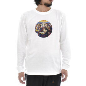 【アートTシャツ】サンドロ・ボッティチェッリ Tシャツ ザクロの聖母 Life is ART ライフ イズ アート 長袖 ロングスリーブ ロンT メンズ レディース 大きいサイズ ビック おしゃれ 絵画 名画 ティーシャツ S M L XL XXL ホワイト 白 ブランド